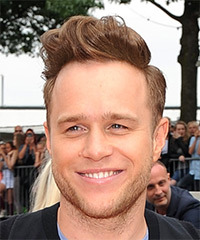 Olly Murs Short Straight Casual Mohawk  Hairstyle with Side Swept Bangs  - Light Brunette