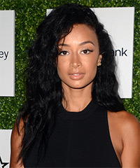 Draya Michele Long Curly Casual    Hairstyle   - Black  Hair Color