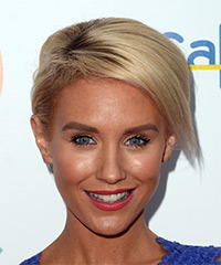 Nicky Whelan Short Straight Casual  Bob  Hairstyle   - Light Blonde Hair Color