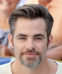 Chris Pine Short Straight Formal    Hairstyle   -  Brunette Hair Color