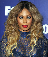 Laverne Cox Long Wavy Casual    Hairstyle   - Dark Blonde Hair Color