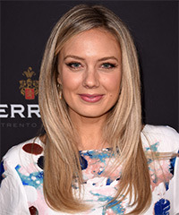 Melissa Ordway Long Straight Formal    Hairstyle   - Light Blonde Hair Color
