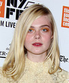 Elle Fanning Long Straight   Light Blonde Bob  Haircut