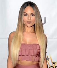 Pia Toscano Long Straight Formal    Hairstyle   - Light Blonde Hair Color