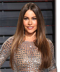 Sofia Vergara Long Straight Formal    Hairstyle   -  Brunette Hair Color