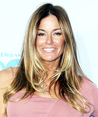 Kelly Bensimon Long Straight Casual    Hairstyle   - Dark Blonde Hair Color with  Blonde Highlights