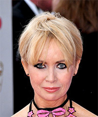 Lysette Anthony Short Straight Casual  Pixie  Hairstyle with Layered Bangs  - Light Blonde Hair Color