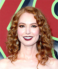 Alicia Witt Medium Curly Casual    Hairstyle   -  Red Hair Color