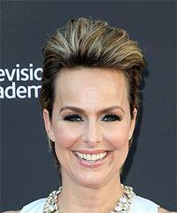 Melora Hardin Short Straight Formal    Hairstyle   -  Brunette Hair Color with  Blonde Highlights