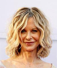 Meg Ryan Medium Wavy   Light Blonde Bob  Haircut