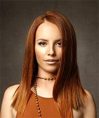 Long Straight Formal    Hairstyle   -  Red Hair Color