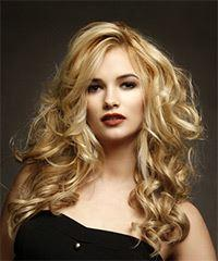 Long Wavy Casual    Hairstyle   -  Blonde Hair Color
