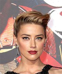 Amber Heard Long Wavy Formal   Updo Hairstyle   -  Blonde Hair Color