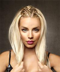Long Straight Casual    Hairstyle   - Light Blonde Hair Color