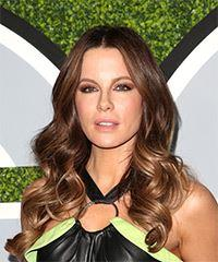 Kate Beckinsale Long Wavy Casual    Hairstyle   -  Brunette Hair Color
