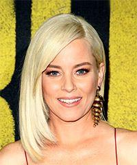 Elizabeth Banks Medium Straight Casual  Bob  Hairstyle with Side Swept Bangs  - Light Blonde Hair Color