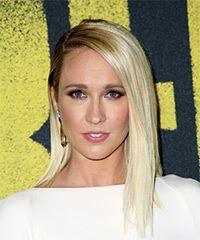 Anna Camp Medium Straight Casual  Bob  Hairstyle   - Light Blonde Hair Color