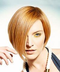 Short Straight Formal  Bob  Hairstyle   - Light Red Hair Color