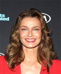 Paulina Porizkova Medium Wavy Casual  Bob  Hairstyle   -  Brunette Hair Color