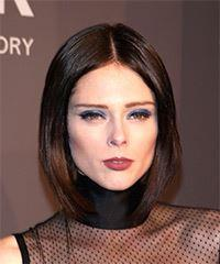 Coco Rocha Short Straight Casual  Bob  Hairstyle   -  Brunette Hair Color