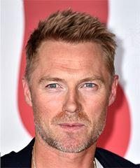 Ronan Keating Short Straight Casual    Hairstyle   - Light Red Hair Color