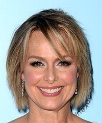 Melora Hardin Short Straight Casual    Hairstyle with Side Swept Bangs  -  Blonde Hair Color
