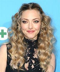 Amanda Seyfried Long Curly Casual    Hairstyle   -  Blonde Hair Color