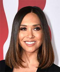Myleene Klass Medium Straight Formal  Bob  Hairstyle   -  Brunette Hair Color