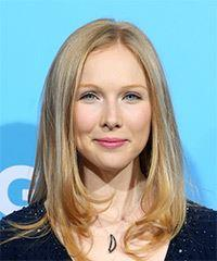 Molly Quinn Medium Straight Casual    Hairstyle   -  Blonde Hair Color