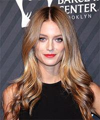 Kate Bock Long Straight Casual    Hairstyle   - Dark Blonde Hair Color