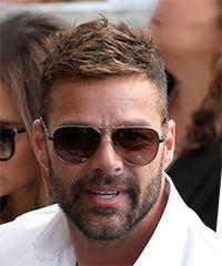 Ricky Martin Short Straight Casual    Hairstyle   -  Brunette Hair Color