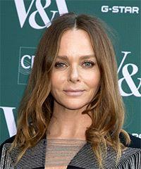 Stella McCartney Long Wavy Casual    Hairstyle   - Light Brunette Hair Color