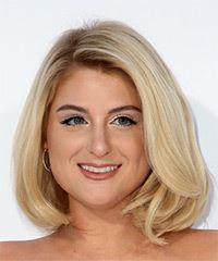 Meghan Trainor Medium Straight Casual  Bob  Hairstyle   - Light Blonde Hair Color