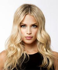 Long Wavy Casual    Hairstyle   - Light Blonde Hair Color