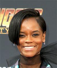 Letitia Wright Short Straight Alternative  Bob  Hairstyle   - Black  Hair Color