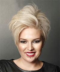 Short Straight Casual  Pixie  Hairstyle   - Light Blonde Hair Color