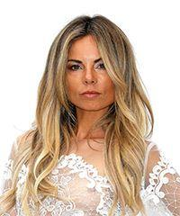 Erica Pelosini Long Wavy Formal    Hairstyle with Layered Bangs  -  Blonde Hair Color