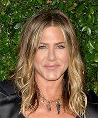 Jennifer Aniston Long Wavy Casual    Hairstyle   -  Blonde Hair Color