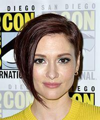 Chyler Leigh Short Straight Casual Layered Bob  Hairstyle   - Dark Brunette Hair Color