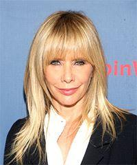 Rosanna Arquette Long Straight Casual    Hairstyle with Layered Bangs  - Light Blonde Hair Color