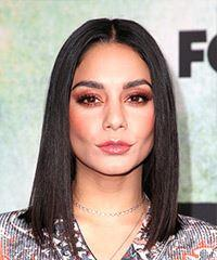 Vanessa Hudgens Medium Straight Formal  Bob  Hairstyle   - Black  Hair Color