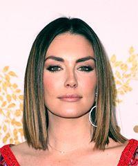Taylor Cole Medium Straight Formal  Bob  Hairstyle   - Dark Copper Brunette Hair Color