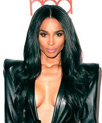 Ciara Long Straight Formal    Hairstyle with Layered Bangs  - Black  Hair Color