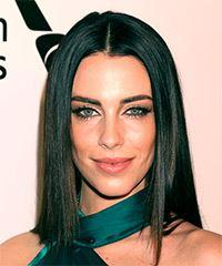 Jessica Lowndes Medium Straight   Black  Bob  Haircut with Blunt Cut Bangs