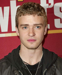 Justin Timberlake Short Curly Casual    Hairstyle   - Dark Copper Blonde Hair Color