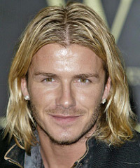 David Beckham Long Wavy Casual    Hairstyle