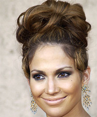 Jennifer Lopez  Long Curly Formal   Updo Hairstyle