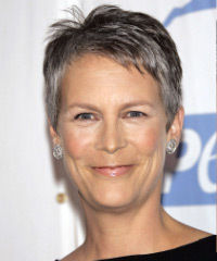 Jamie Lee Curtis Short Straight Casual    Hairstyle
