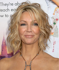 Heather Locklear Medium Wavy Formal    Hairstyle