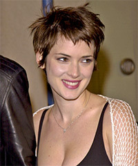Winona Ryder Short Straight Casual    Hairstyle